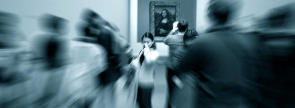 Girl at the Louvre Museum